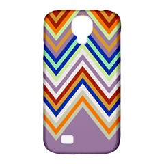 Chevron Wave Color Rainbow Triangle Waves Grey Samsung Galaxy S4 Classic Hardshell Case (pc+silicone)