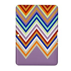Chevron Wave Color Rainbow Triangle Waves Grey Samsung Galaxy Tab 2 (10 1 ) P5100 Hardshell Case