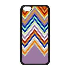 Chevron Wave Color Rainbow Triangle Waves Grey Apple Iphone 5c Seamless Case (black)