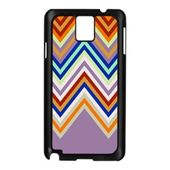 Chevron Wave Color Rainbow Triangle Waves Grey Samsung Galaxy Note 3 N9005 Case (black)