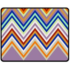 Chevron Wave Color Rainbow Triangle Waves Grey Double Sided Fleece Blanket (medium)