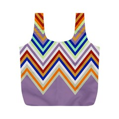 Chevron Wave Color Rainbow Triangle Waves Grey Full Print Recycle Bags (m)  by Alisyart