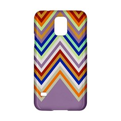 Chevron Wave Color Rainbow Triangle Waves Grey Samsung Galaxy S5 Hardshell Case
