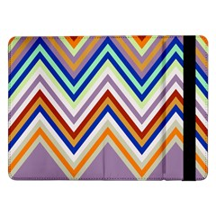 Chevron Wave Color Rainbow Triangle Waves Grey Samsung Galaxy Tab Pro 12 2  Flip Case