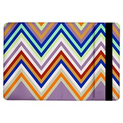 Chevron Wave Color Rainbow Triangle Waves Grey Ipad Air Flip