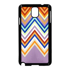 Chevron Wave Color Rainbow Triangle Waves Grey Samsung Galaxy Note 3 Neo Hardshell Case (black)