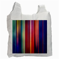 Texture Lines Vertical Lines Recycle Bag (one Side) by Simbadda