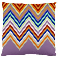 Chevron Wave Color Rainbow Triangle Waves Grey Large Flano Cushion Case (two Sides)