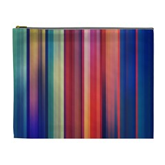 Texture Lines Vertical Lines Cosmetic Bag (xl) by Simbadda