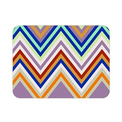 Chevron Wave Color Rainbow Triangle Waves Grey Double Sided Flano Blanket (mini)