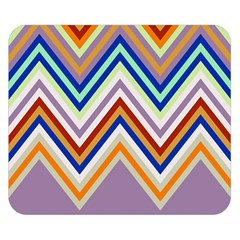 Chevron Wave Color Rainbow Triangle Waves Grey Double Sided Flano Blanket (small)