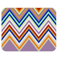 Chevron Wave Color Rainbow Triangle Waves Grey Double Sided Flano Blanket (medium)