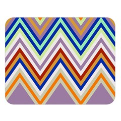 Chevron Wave Color Rainbow Triangle Waves Grey Double Sided Flano Blanket (large)