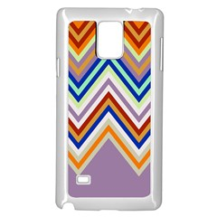 Chevron Wave Color Rainbow Triangle Waves Grey Samsung Galaxy Note 4 Case (white)