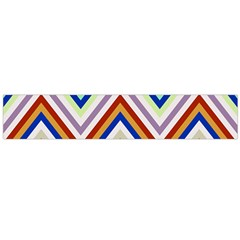 Chevron Wave Color Rainbow Triangle Waves Grey Flano Scarf (large)