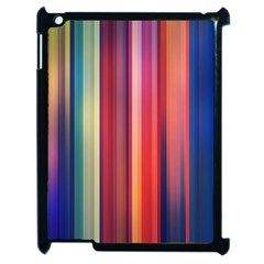 Texture Lines Vertical Lines Apple Ipad 2 Case (black) by Simbadda