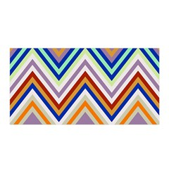 Chevron Wave Color Rainbow Triangle Waves Grey Satin Wrap