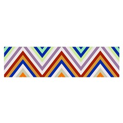 Chevron Wave Color Rainbow Triangle Waves Grey Satin Scarf (oblong)
