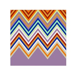 Chevron Wave Color Rainbow Triangle Waves Grey Small Satin Scarf (square)