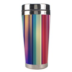 Texture Lines Vertical Lines Stainless Steel Travel Tumblers by Simbadda