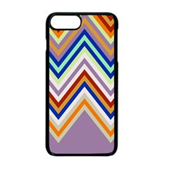Chevron Wave Color Rainbow Triangle Waves Grey Apple Iphone 7 Plus Seamless Case (black)