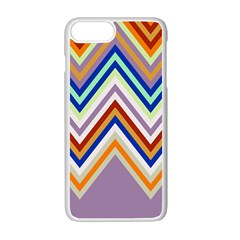 Chevron Wave Color Rainbow Triangle Waves Grey Apple Iphone 7 Plus White Seamless Case