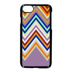 Chevron Wave Color Rainbow Triangle Waves Grey Apple Iphone 7 Seamless Case (black)