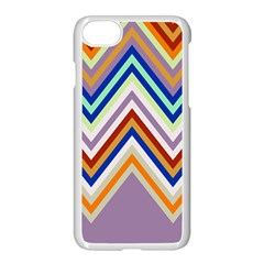 Chevron Wave Color Rainbow Triangle Waves Grey Apple Iphone 7 Seamless Case (white)