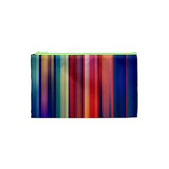 Texture Lines Vertical Lines Cosmetic Bag (xs) by Simbadda