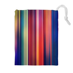 Texture Lines Vertical Lines Drawstring Pouches (extra Large)