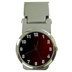 Abstract Dark Simple Red Money Clip Watches