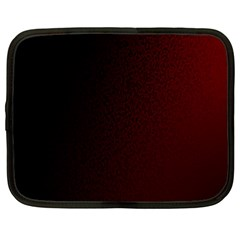Abstract Dark Simple Red Netbook Case (xl)