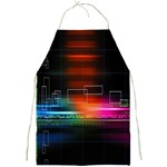 Abstract Binary Full Print Aprons Front