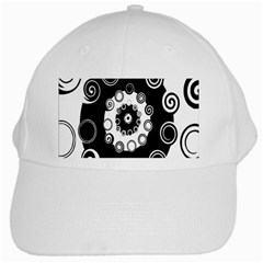 Fluctuation Hole Black White Circle White Cap