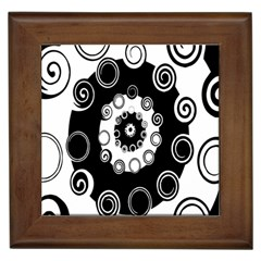 Fluctuation Hole Black White Circle Framed Tiles