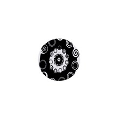 Fluctuation Hole Black White Circle 1  Mini Magnets