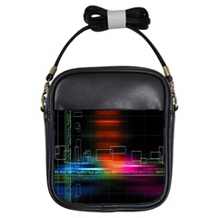 Abstract Binary Girls Sling Bags by Simbadda