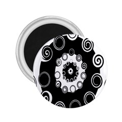 Fluctuation Hole Black White Circle 2 25  Magnets
