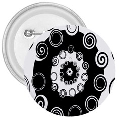 Fluctuation Hole Black White Circle 3  Buttons