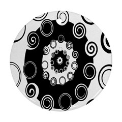 Fluctuation Hole Black White Circle Ornament (round)