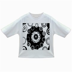 Fluctuation Hole Black White Circle Infant/toddler T Shirts