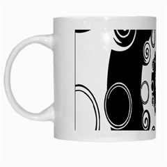 Fluctuation Hole Black White Circle White Mugs by Alisyart