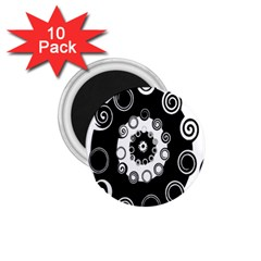 Fluctuation Hole Black White Circle 1 75  Magnets (10 Pack)