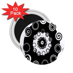 Fluctuation Hole Black White Circle 2 25  Magnets (10 Pack)