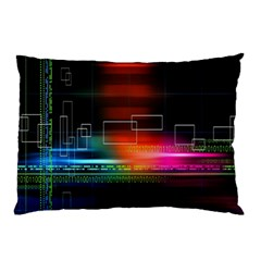 Abstract Binary Pillow Case (two Sides) by Simbadda