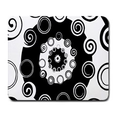 Fluctuation Hole Black White Circle Large Mousepads