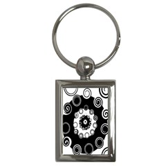 Fluctuation Hole Black White Circle Key Chains (rectangle)