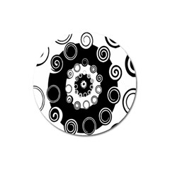 Fluctuation Hole Black White Circle Magnet 3  (round)