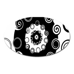 Fluctuation Hole Black White Circle Oval Magnet
