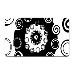 Fluctuation Hole Black White Circle Magnet (rectangular)